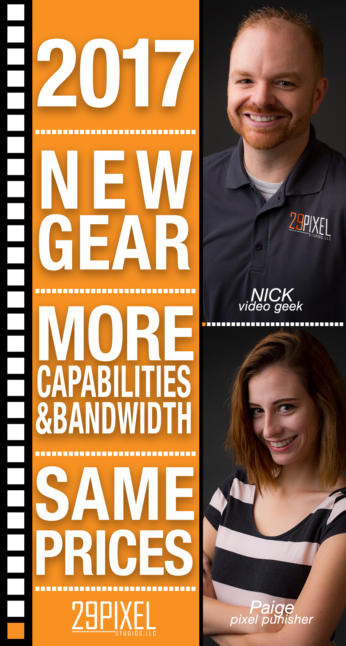 29 Pixel Studios upgrades gear and keeps prices the same! - New gear same prices
